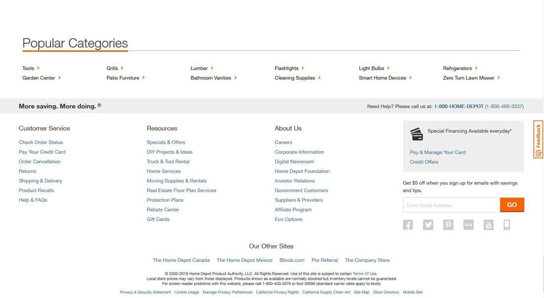 网站页脚设计